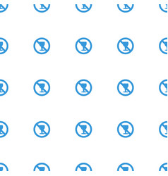 No alcohol icon pattern seamless white background vector