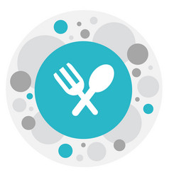 Of complex symbol on spoon vector