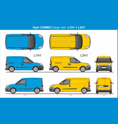 Opel combo cargo van l1h1 and l2h1 2016-present vector
