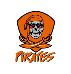 orange pirates vector image