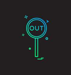 Out decision umpire icon design vector
