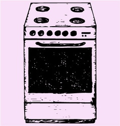 oven vector image