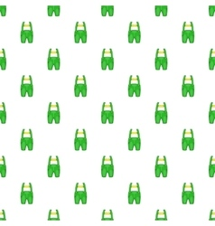Pants with suspenders pattern cartoon style vector image vector image