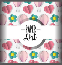 Paper art background vector