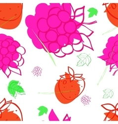 pattern with the image of raspberries vector image