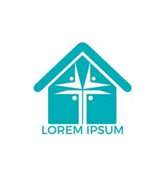 people home church logo design vector image