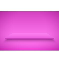 Pink Presentation platform vector image