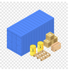 Port container box icon isometric style vector