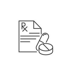 Prescription thin line related icon vector