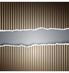 Ragged paper with a pattern of lines vector image