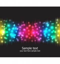 rainbow colours vector image