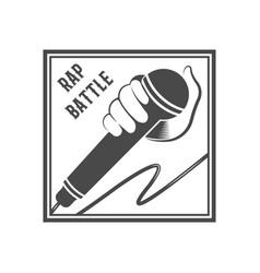 rap battle logotype vector image