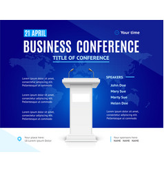 Realistic detailed 3d business conference template vector