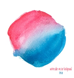 Red and blue watercolor circle vector