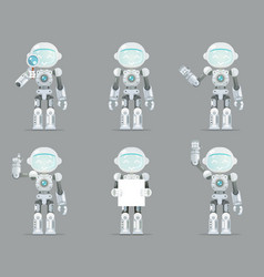 Robot android artificial intelligence futuristic vector