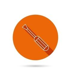 Screwdriver icon Repair or fix tool sign vector image