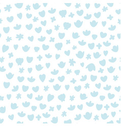 seamless blue nursery pattern with rounded vector image
