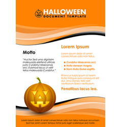 seasonal autumn halloween document template vector image