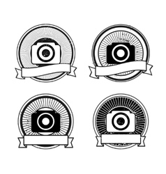 Set of camera badges vector image