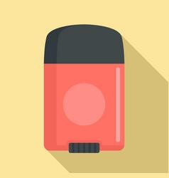 Sport man deodorant icon flat style vector