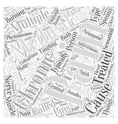 The chronic pain of multiple sclerosis Word Cloud vector