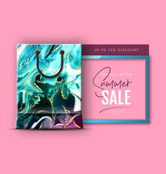 typography summer big sale banner vector image