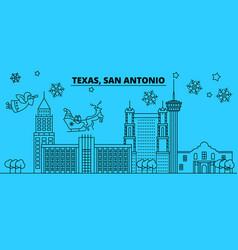 united states san antonio winter holidays skyline vector image