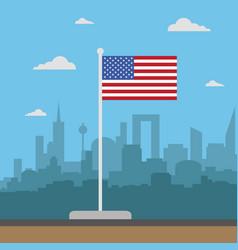 usa flag flat style vector image
