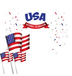 Usa national celebration poster template design vector