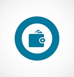 Wallet bold blue border circle icon vector