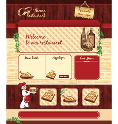 Web template for retro restaurant vector image