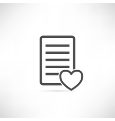 Wish List Icon Heart vector