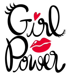 Word expression for girl power vector