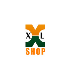 xl shop or store letter x icon vector image