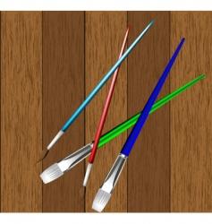brush board vector image vector image