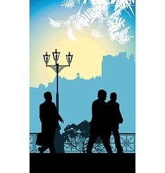 Business walking vector image vector image