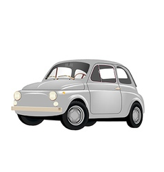 Small Retro Car vector image vector image