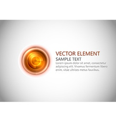 abstract center point red text vector image vector image