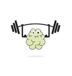 Brain training vecot icon vector image