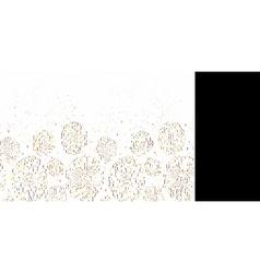 Chalk flowers blackboard horizontal border vector image