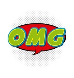 omg comic pop art style vector image vector image
