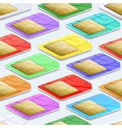 SIM cards seamless pattern background Mobile vector image