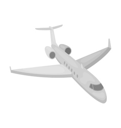 Airplane icon in monochrome style isolated on vector image vector image