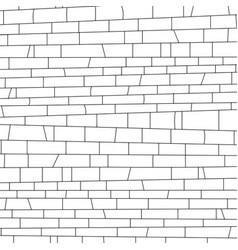 brickwork black and white texture vector image