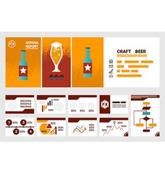 craft beer company annual report cover A4 sheet vector image vector image