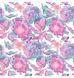 Paradise Tileable Texture with Floral Motif vector image vector image