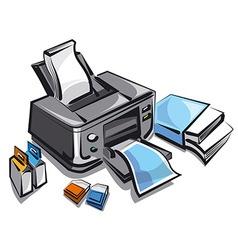 ink jet printer vector image vector image