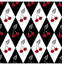 Seamless pattern with cherries vector image vector image
