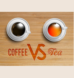 a realistic cup of teacoffee vector image