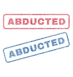 Abducted textile stamps vector